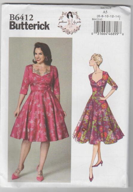 Butterick USA Sewing Pattern B 6412 A5 Ladies Gertie Rockabella ...