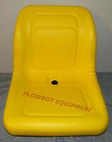 Yellow Vinyl High Back Seat For John Deere Z-track Ztr F620 F680 Lawn Mower
