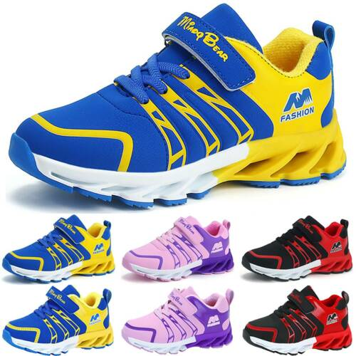 Children Girls Boys Gym Sneakers Running Sports School Trainers Flat Shoes Sizes