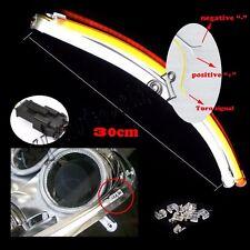 2x30cm DC 12V DRL LED Strip White Amber Tube Switchback Headlight For Audi Style