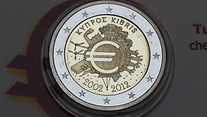 2 euro 2012 CIPRO Fs proof BE PP Chypre Cyprus Zibrus EMU UEM COM TYE 塞浦路斯 Кипр