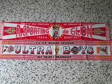lotto 2 sciarpe SPORTING GIJON FC club football calcio scarf bufanda lot d