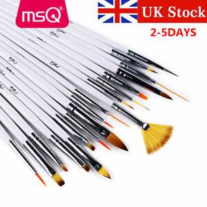 Uk 18pcs Diy Nail Art Brushes Set Kolinsky Hair Acrylic Nail Brush