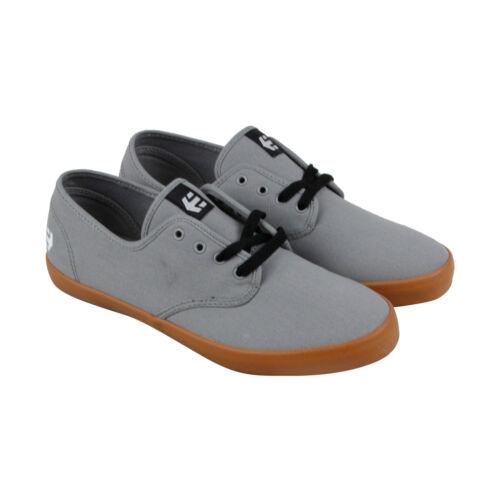 Etnies Patrol Mens Gray Canvas Athletic Lace Up Skate Shoes