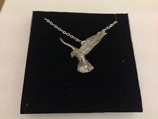 Falcon PP-B18 Emblem Silver Platinum Plated Necklace 18""