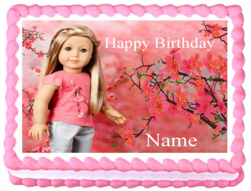AMERICAN GIRL Isabelle Doll Edible Party cake topper image