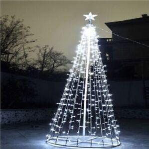 Albero Di Natale Ebay.Albero Di Natale 2 Mt Luminoso Moderno In Ferro 360 Miniluci Bianco Ip44 Ebay