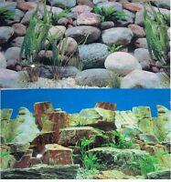 Aquarium Background Decoration 48 X 22.75 2 Sided Rocky Aquarium