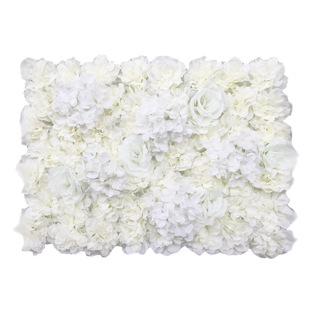 20 pièces Artificielle Rose Hydrangea Fleur Panneaux Muraux Décor De