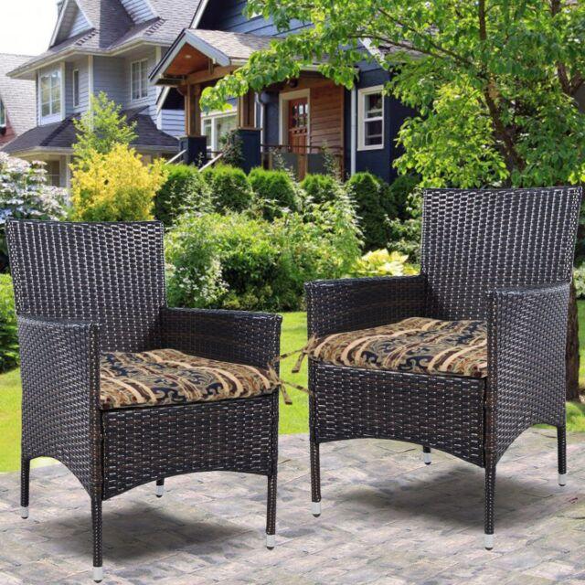 Wicker Seat Cushion Pad Set