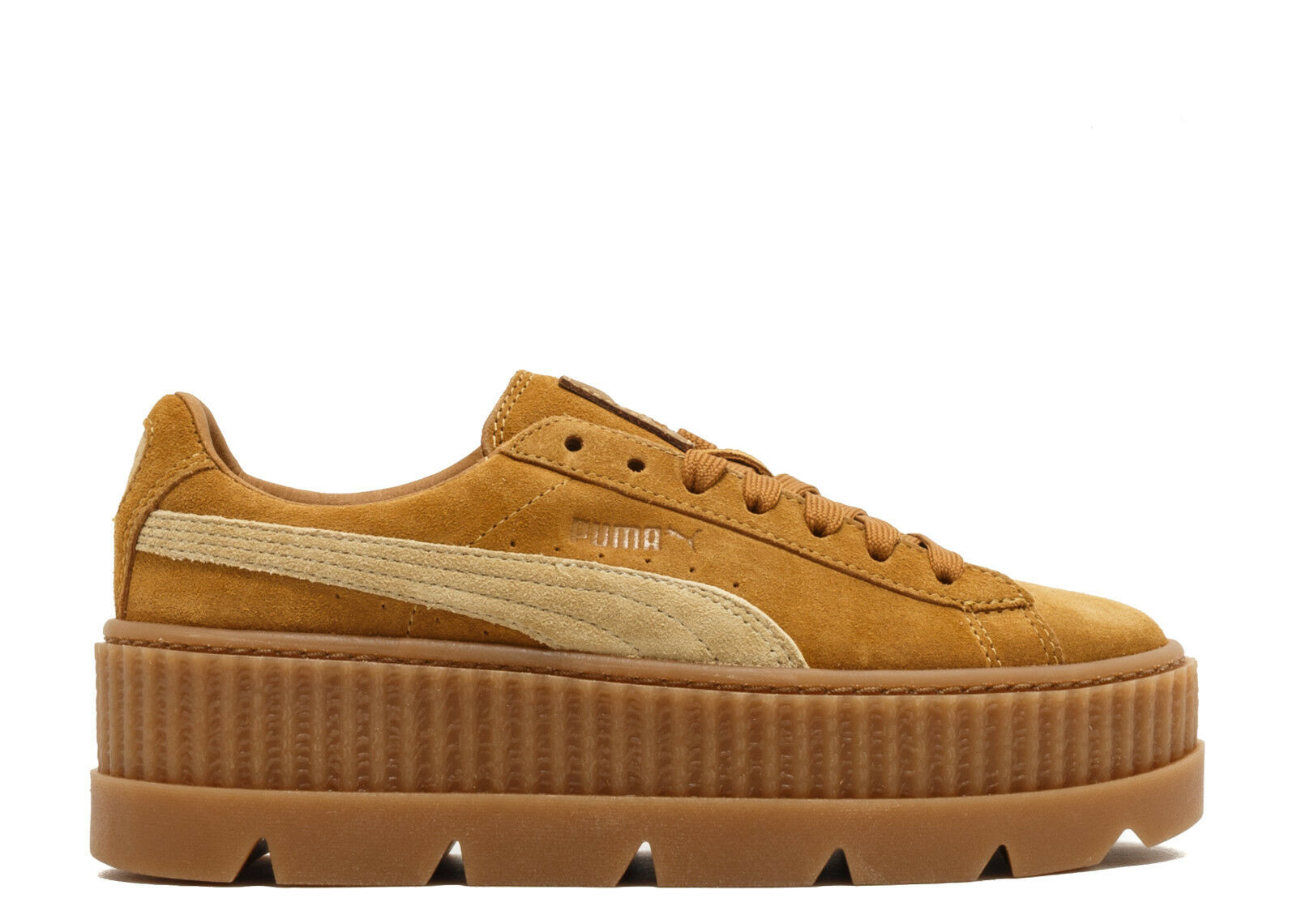 Puma Fenty x Rihanna Cleated Creeper Suede womens platform shoes 366268 02 brown