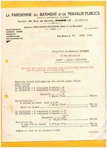 SAINT-AMAND-MONTROND-18-Ets-034-LA-PARISIENNE-DU-BATIMENT-amp-TRAVAUX-PUBLICS-034-1945