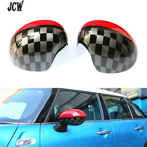 Side Mirror Covers Caps Cover Jcw Design Fit For Mini