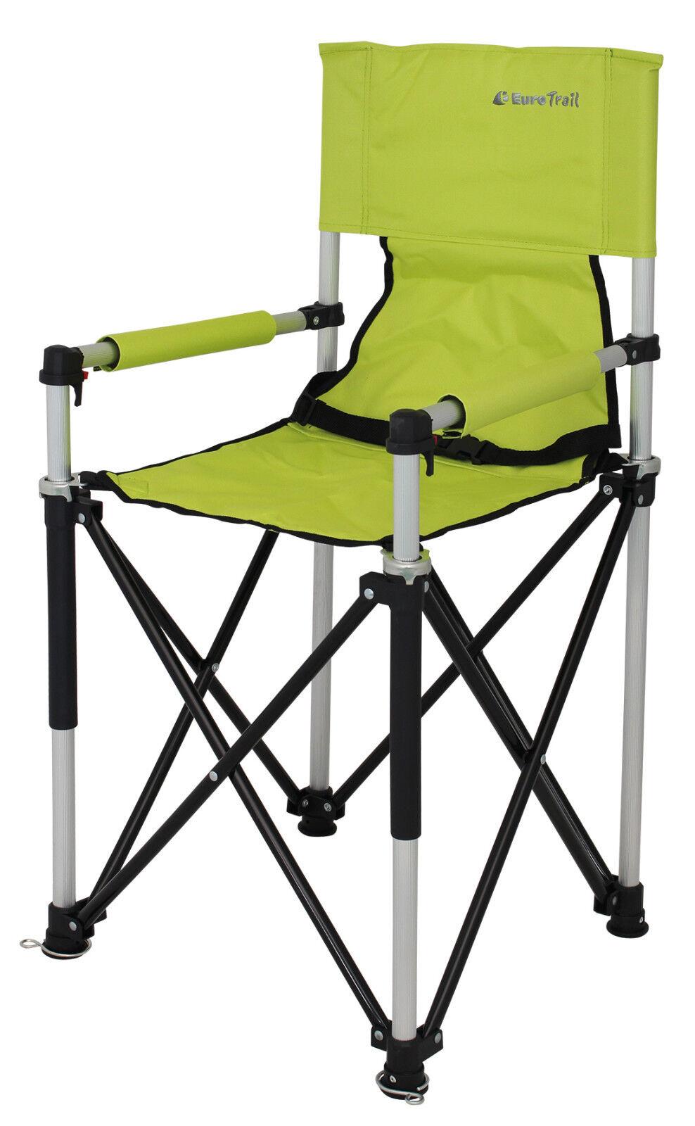 Chaise de de de Camping Petit Jr Enfants avec Haut Siège Pliante, Couleur: Citron Vert 86c40c