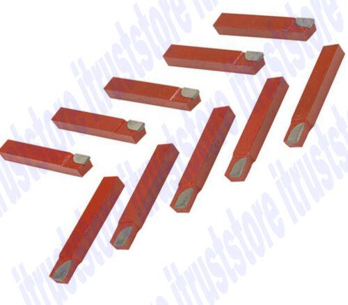 "10-PCS 1//2/"" Shank Metal Lathe 8mm Carbide Tip Tipped Cutter Machining Bits"