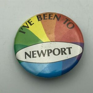 Vintage I've Been To Newport Button Pin Pinback Badge Rainbow Of Colors P6