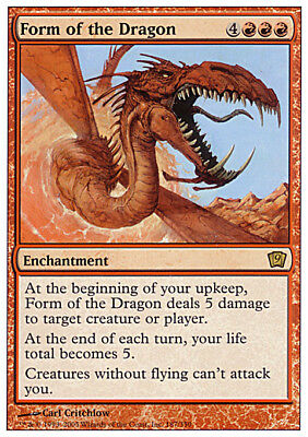 4 Form of the Dragon = Red Ninth 9th Edition Mtg Magic Rare 4x x4