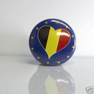 2-Badges-Europe-25mm-PIN-BACK-BUTTON-EPINGLE-Belgique