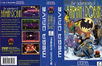 The Adventure Of Batman & Robin Sega Mega Drive Replacement Art Insert For Box