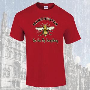Manchester-Travailleur-Abeille-You-Are-My-Everything-T-Shirt-Choix-de-Couleurs