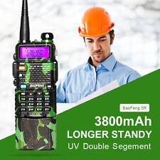 BaoFeng UV-5R Walkie Talkie Two Way Radio Transceiver Dual Band 3800mah Battery