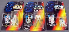 Star Wars PotF LUKE SKYWALKER R2D2 & R5D4 Action Figures Red Card Kenner '95 NIP