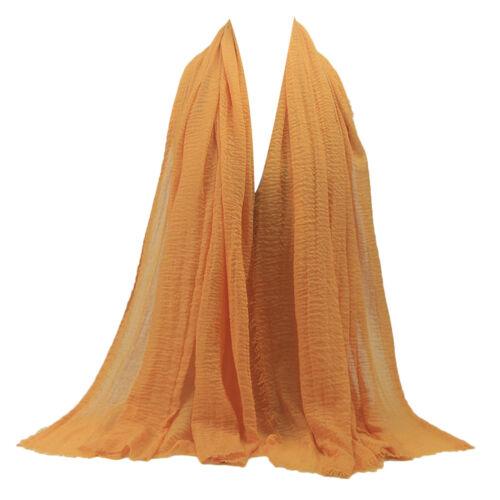 Damen Lange Muslim Kopftuch Schal Schultertuch Muslim Kragen Einwickeln Geschenk