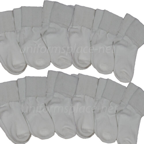 12 Pairs Girl Toddler Baby Socks Cotton Blend Bobby Cuff Sport Athletic Socks