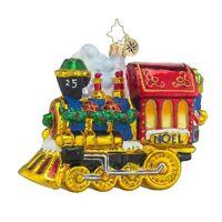 Christopher Radko Christmas Ornament Train All Aboard Glass 5