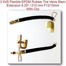 "10Kit Flexible EPDM RubberTire Valve Stem Extension W//Clamp 8.25/"" 210mm Φ12//10mm"