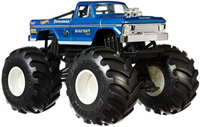 Hot Wheels Monster Trucks Bigfoot Die Cast 1 24 Scale Vehicle With Giant Wheels For Sale Online
