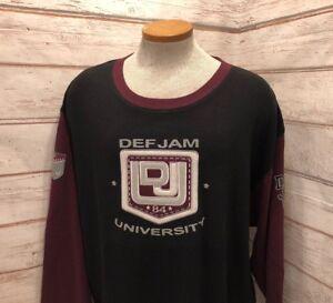 Def-Jam-University-Vintage-90-s-Stretch-Thermal-Patched-Shirt-Mens-Size-XL-EUC-2
