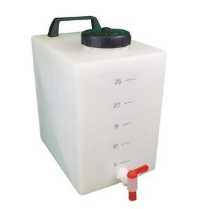 Portable 25 litre water tank tap caravan boat car valeting van motorhome garden ebay for Portable watering tanks for gardens