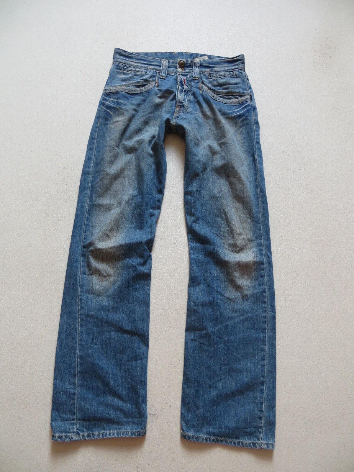 REPLAY MV 943A Jeans Hose, W 30  L 32, faded wash USED Denim mit Knopfleiste