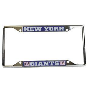 New-NFL-New-York-Giants-Car-Truck-Premium-Chrome-Metal-License-Plate-Frame