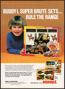 BUDDY-L-Orig-1981-Trade-Print-AD-poster-toy-promo-Super-Brute-Dude-Ranch-Set