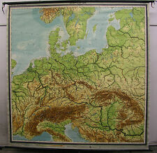 Schulwandkarte Wandkarte Schulkarte Alte Europa Mitteleuropa 1954 900T 223x228cm