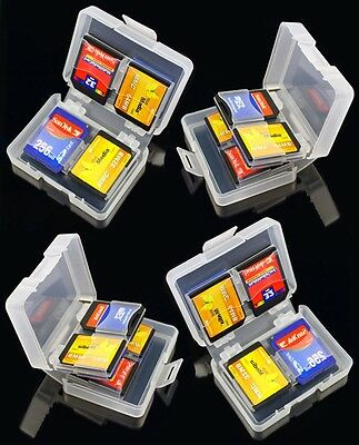 4 x 8in1 SD Memory Card Cases - SDHC Protector Storage Holder 8GB 16GB 32GB