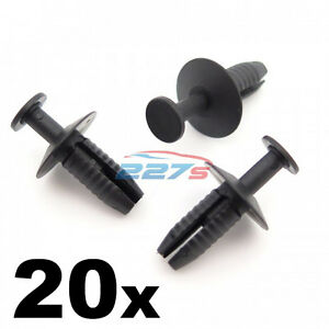 20x plastique pare-chocs grille /& clips pour Mazda 10mm push fit rivet fasteners