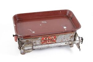 Beautiful-Old-Kitchen-Scale-Decor-Scale-with-Bowl-11lbs-Enamel