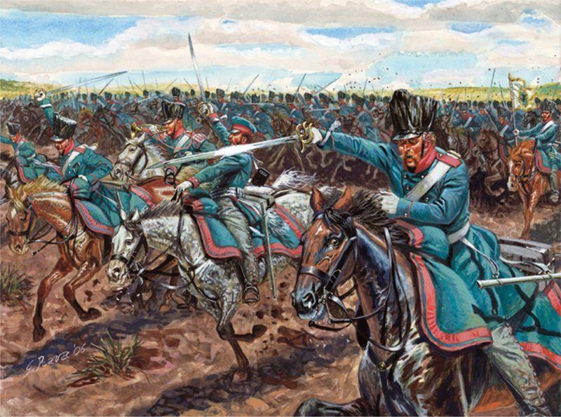 Napoleonic Prussian Light Cavalry Plastic Kit 1 72 Model ITALERI