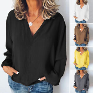 ZANZEA-Women-Spring-Summer-Oversized-Top-Tee-Shirt-Office-Work-Plus-Size-Blouse