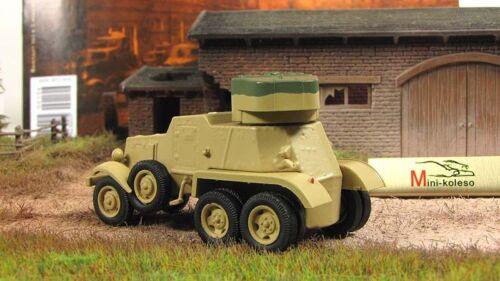 BA-6 Heavy Armored Car Soviet Union 1934 Year 1//72 Scale Military Diecast Model