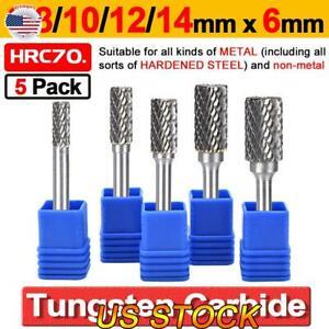 """1//4/"""" Metal Carbide Rotary Point Burr Set Milling Bit Burr Shank For Die Grinder"""