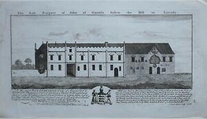 1726-ANTIQUE-PRINT-EAST-PROSPECT-OF-JOHN-GAUNTS-BELOW-HILL-IN-LINCOLN