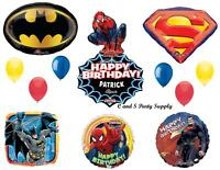 Superheroes Batman Spiderman Superman Birthday Party Balloon Decoration Supplies