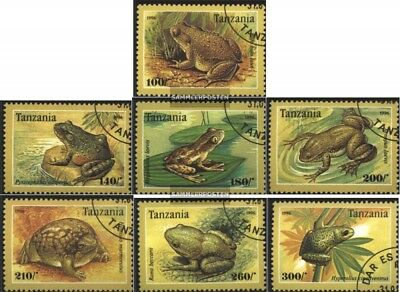 Tanzanie 2264-2270 Oblitéré 1996 Anoures Beneficial To The Sperm Topical Stamps