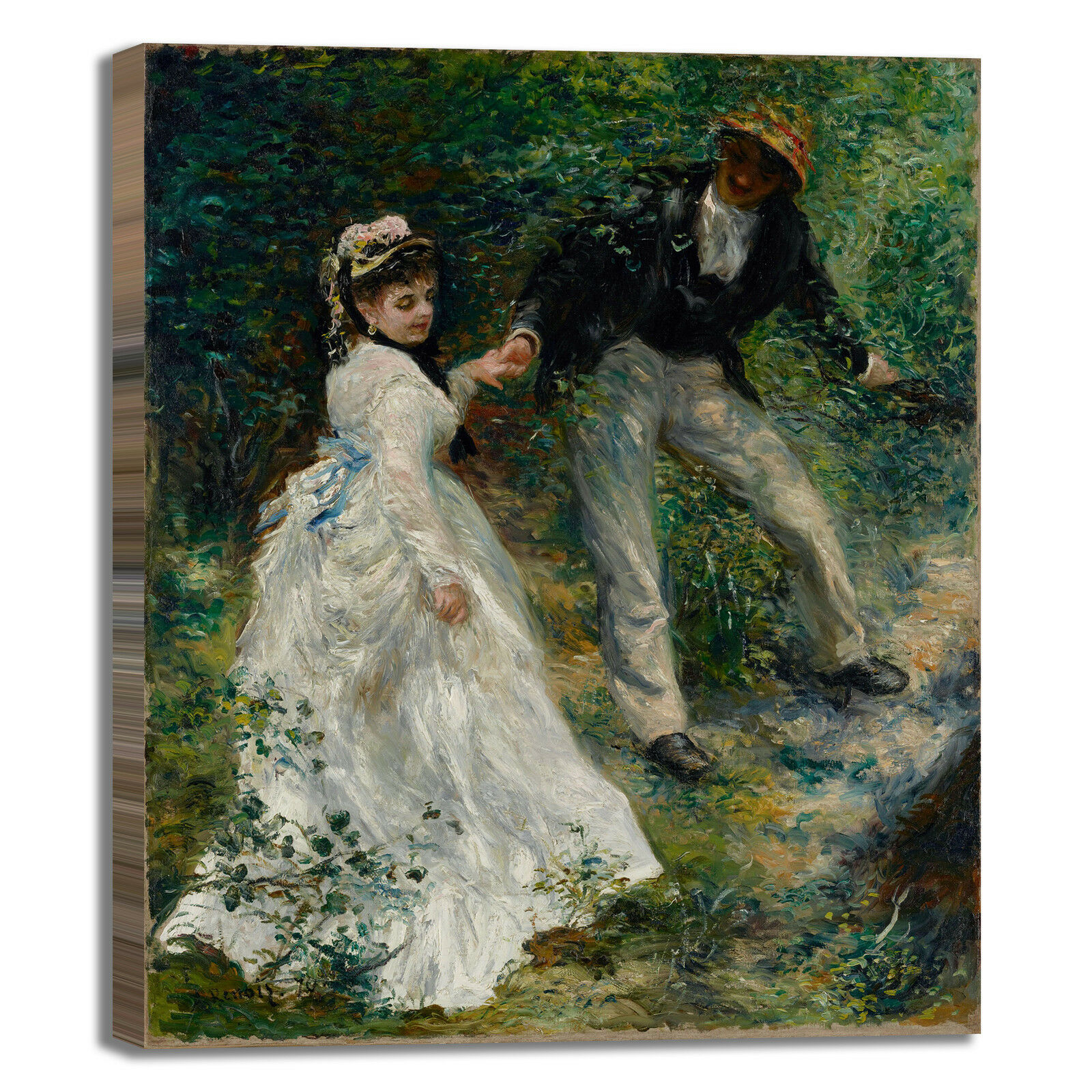 Renoir la passeggiata design quadro stampa tela o dipinto telaio arRouge o tela casa 691814