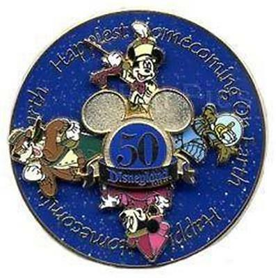 FAB 4 SPINNER Happiest HOMECOMING On EARTH 50th HTF Disneyland 2005 PIN