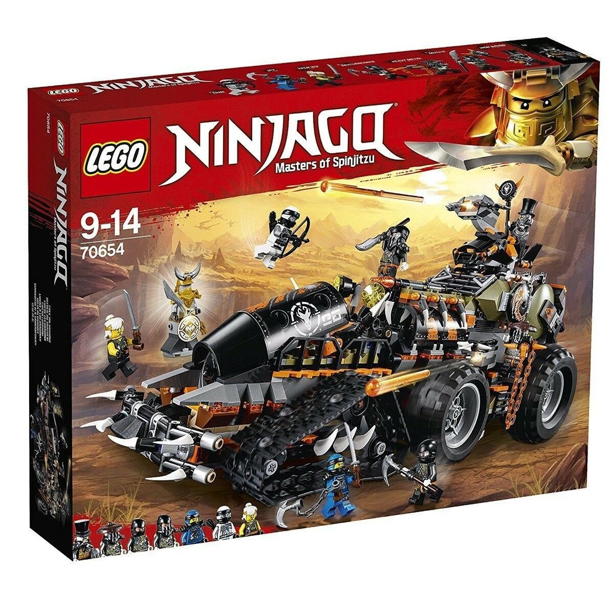 LEGO NINJAGO TURBO CINGOLATO - LEGO 70654